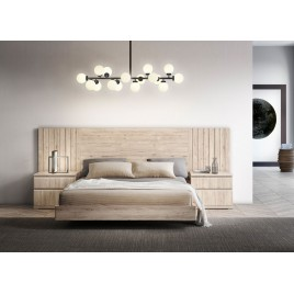 Lit contemporain design 160x200 cm bois