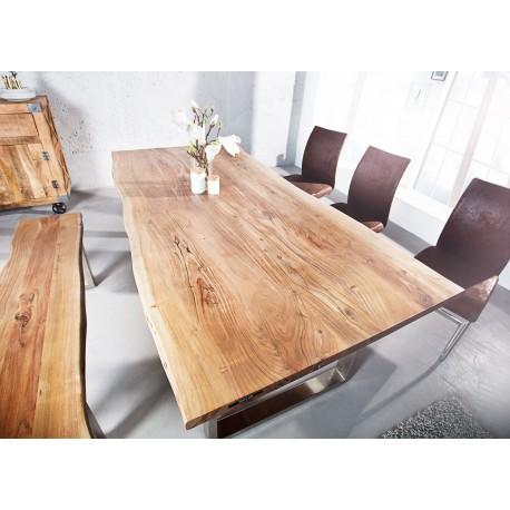 Table en bois massif d'acacia 1m60