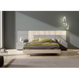 Lit moderne tête de lit et chevets 160x200