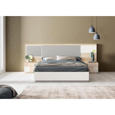 Lit coffre design en bois 160 à led