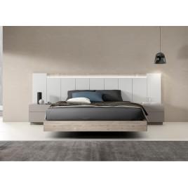 Lit design adulte led intégré 160x200 cm