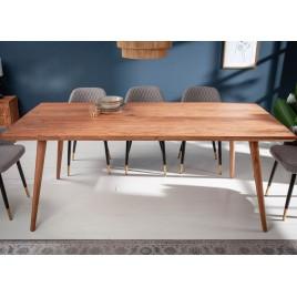 Table à manger en bois massif d'acacia 6 personnes