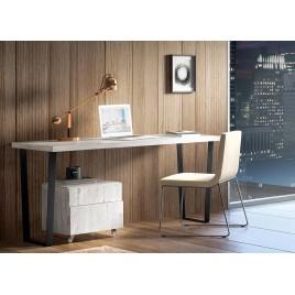 Bureau avec caisson frêne