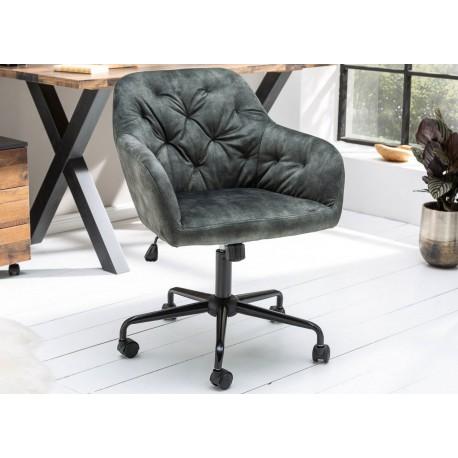Chaise de bureau velours vert