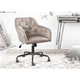 Chaise de bureau velours taupe