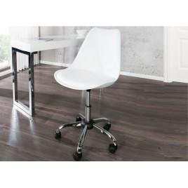 Chaise de bureau réglable en hauteur blanche