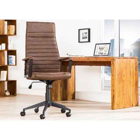Fauteuil de bureau avec accoudoirs marron