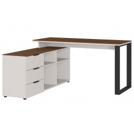 Meuble bureau d'angle avec rangement