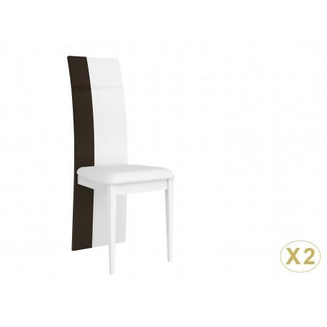 Chaise de salle à manger blanche et grise