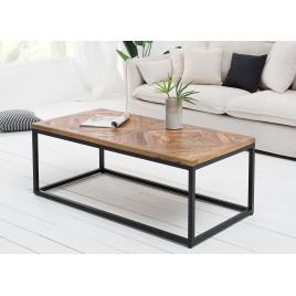 Table basse rectangulaire plateau bois massif 100 cm