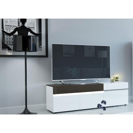 Meuble tv moderne 3 portes et 1 tiroir 1m80