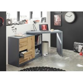 Bureau moderne avec rangement et plateau pivotant
