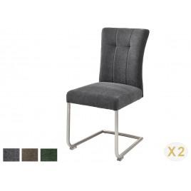 Chaise de salle à manger tissu avec poignée dossier