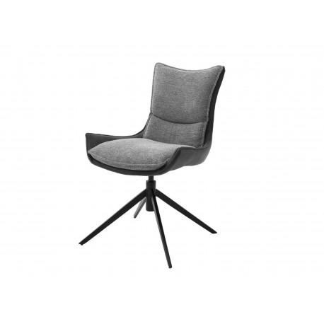 Chaise design en tissu avec coque pivotante