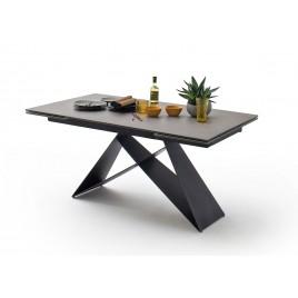 Table à manger extensible 160-240 cm anthracite et métal noir