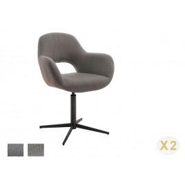 Chaise pivotante avec dossier ajouré