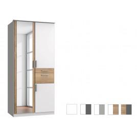 Armoire 3 portes avec miroir et tiroirs L 91 cm