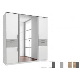 Armoire 6 portes avec 2 miroirs et 4 tiroirs L 179 cm