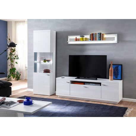 Ensemble TV design blanc laqué