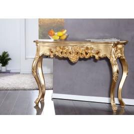 Console baroque 110 cm couleur or