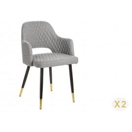 Chaise tissu gris clair de salle à manger moderne