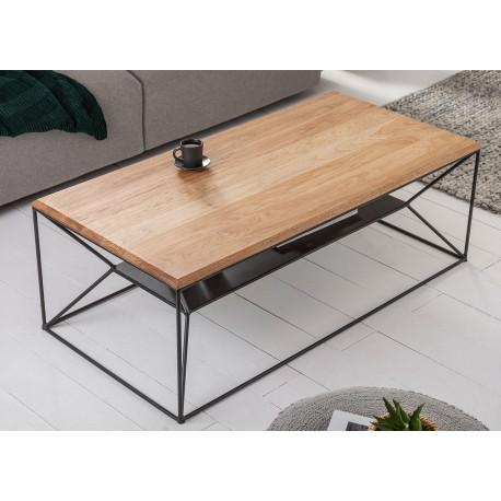 Table basse plateau en bois de chêne 1m10
