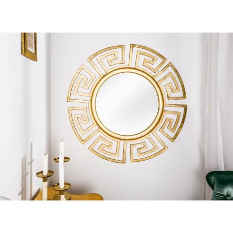 Miroir rond doré design glamour 85 cm