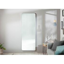 Grand miroir mural rectangulaire argenté 170 cm