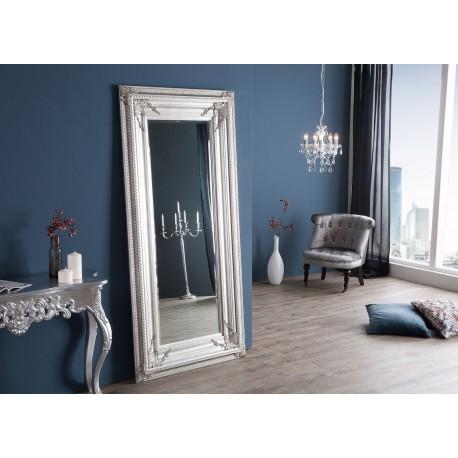 Miroir baroque argenté 180 cm