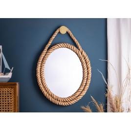 Miroir mural corde style marin 62 cm
