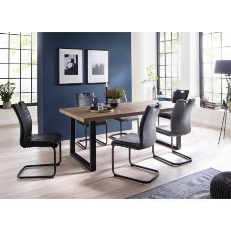 Table à manger couleur chêne sauvage 160 ou 200 cm