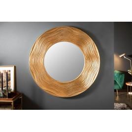 Miroir design mural rond cadre doré 100 cm