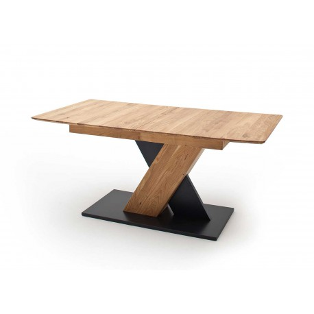 Table à manger 140 cm chêne sauvage extensible à 185 cm