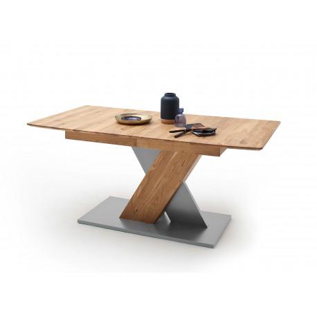 Table de repas 140 ou 180 cm extensible bois chêne sauvage