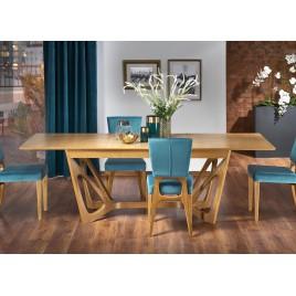 Table salle à manger extensible chêne miel L160-240 cm