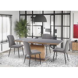 Table de repas extensible chêne doré et gris L 140-180 cm