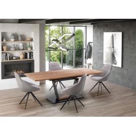 Table rectangulaire avec rallonge chêne doré L 160-220 cm