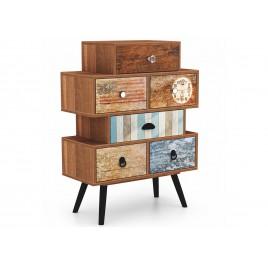 Meuble de rangement vintage bois et métal 6 tiroirs