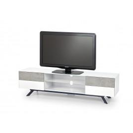 Meuble tv moderne blanc et gris béton