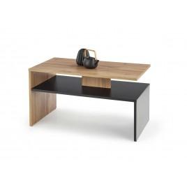 Table basse rectangulaire noir et chêne Wotan