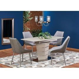 Table de salle à manger à rallonge couleur champagne