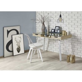 Bureau moderne en verre et bois chêne sonoma