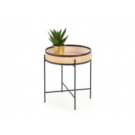 Table d'appoint rotin naturel