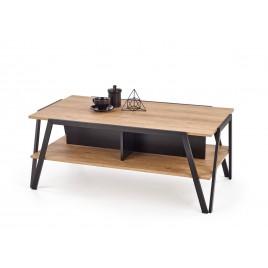 Table basse couleur chêne doré et noir