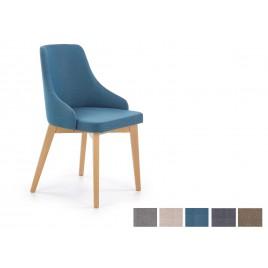 Chaise en tissu et pieds en bois de hêtre massif