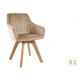 Lot de 2 chaises design pivotantes avec accoudoirs