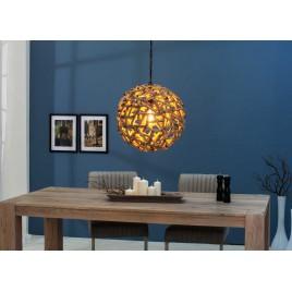 Lampe suspendue en bois flotté