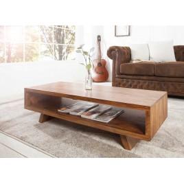 Table basse rétro 110 cm en bois de shesham