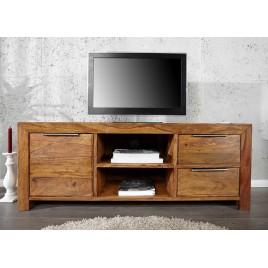 Meuble TV avec rangements bois massif sesham 135 cm