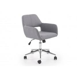 Chaise de bureau en tissu gris à roulette